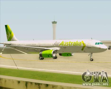 Airbus A321-200 Air Australia para GTA San Andreas vista hacia atrás
