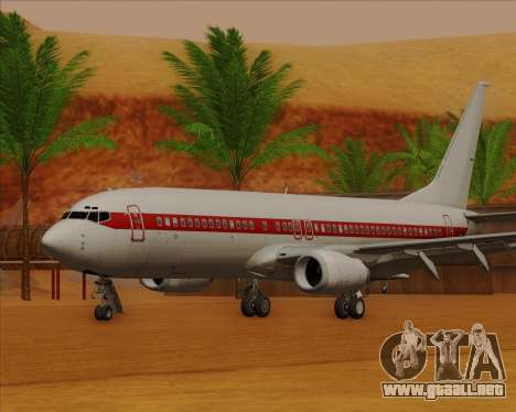 Boeing 737-800 EG&G - Janet para GTA San Andreas left