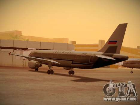 Airbus A320-214 Aeroflot Retrojet para la visión correcta GTA San Andreas
