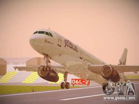 Airbus A321-232 jetBlue I love Blue York para GTA San Andreas left