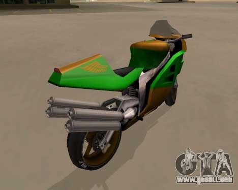 NRG-500 Winged Edition V.1 para la visión correcta GTA San Andreas
