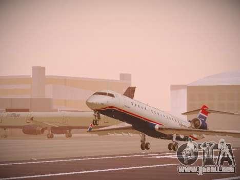 Bombardier CRJ-700 US Airways Express para GTA San Andreas left