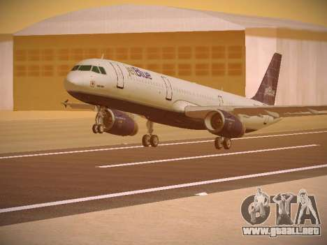 Airbus A321-232 jetBlue Batty Blue para GTA San Andreas left