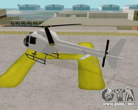 Buckingham Maverick V1.0 para GTA San Andreas vista posterior izquierda