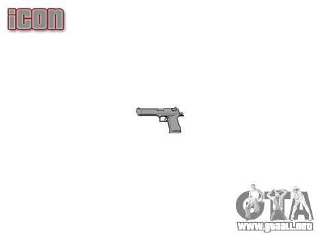 Pistola IMI Desert Eagle Mc XIX Oro para GTA 4 tercera pantalla