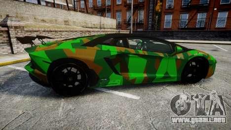 Lamborghini Aventador LP760-4 Camo Edition para GTA 4 left