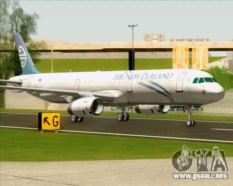 Airbus A321-200 Air New Zealand para GTA San Andreas left