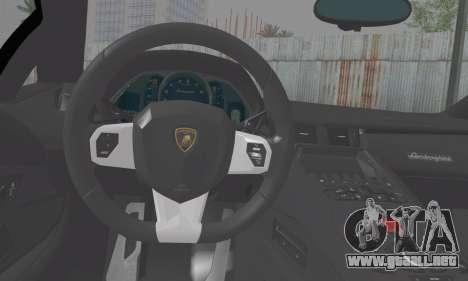 Lamborghini Avendator LP700-4 2012 para GTA San Andreas vista posterior izquierda