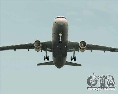 Airbus A320-200 Tigerair Australia para la vista superior GTA San Andreas