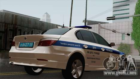 El BMW 530xd DPS para GTA San Andreas left