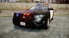 GTA V Vapid Interceptor LSS Black [ELS] para GTA 4
