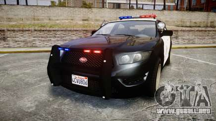 GTA V Vapid Interceptor LSP [ELS] para GTA 4
