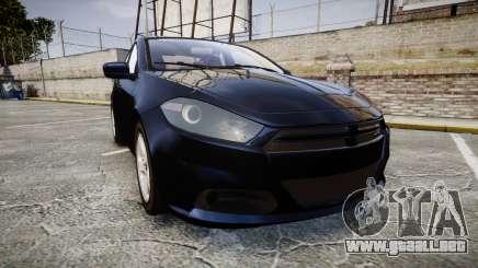 Dodge Dart 2013 Undercover [ELS] para GTA 4