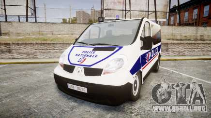 Renault Trafic Police Nationale para GTA 4