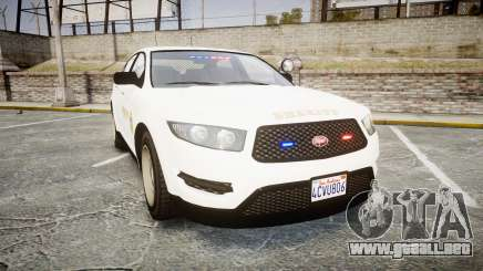 GTA V Vapid Interceptor LSS White [ELS] Slicktop para GTA 4