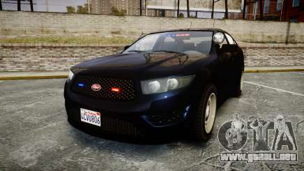 GTA V Vapid Interceptor Unmarked [ELS] Slicktop para GTA 4