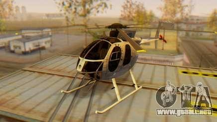 El MD500E helicóptero v3 para GTA San Andreas