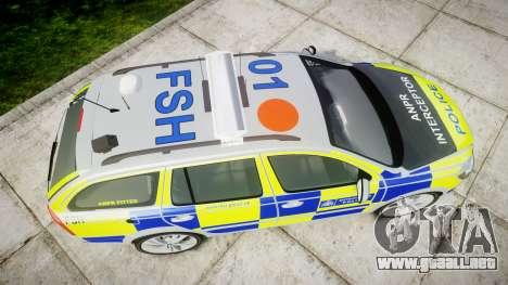 Skoda Octavia vRS Comb Metropolitan Police [ELS] para GTA 4 visión correcta