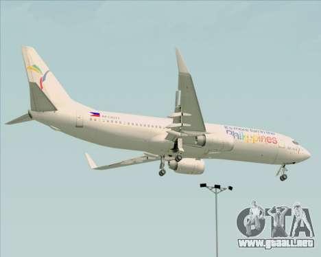 Boeing 737-800 South East Asian Airlines (SEAIR) para GTA San Andreas vista hacia atrás