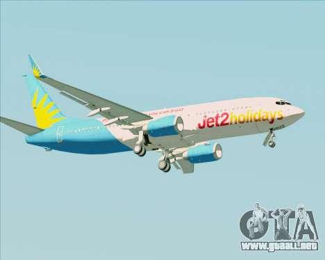 Boeing 737-800 Jet2Holidays para vista lateral GTA San Andreas