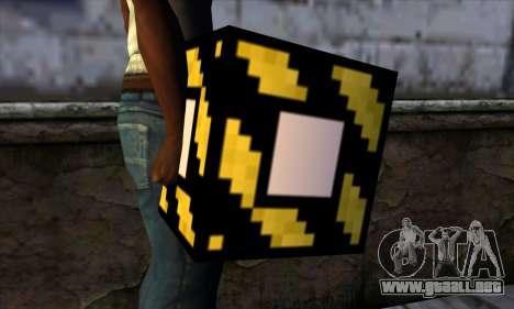Bloque (Minecraft) v4 para GTA San Andreas tercera pantalla