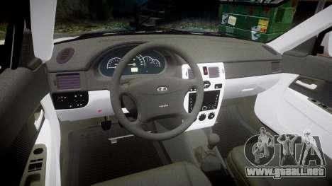 ВАЗ-2170 Instalado Antes el Acuario para GTA 4 vista interior