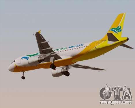 Airbus A320-200 Cebu Pacific Air para vista lateral GTA San Andreas