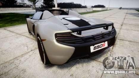 McLaren 650S Spider 2014 [EPM] v2.0 para GTA 4 Vista posterior izquierda