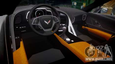 Chevrolet Corvette C7 Stingray 2014 v2.0 TireYA2 para GTA 4 vista interior