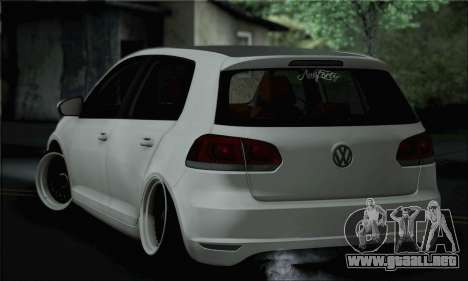 Volkswagen Golf R para GTA San Andreas left