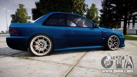 Subaru Impreza 22B Street para GTA 4 left