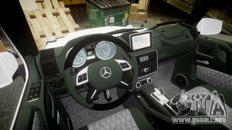 Mercedes-Benz G55 AMG Grand Edition Hamann para GTA 4 vista interior