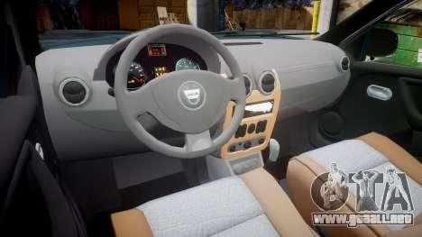 Dacia Duster 2013 para GTA 4 vista hacia atrás