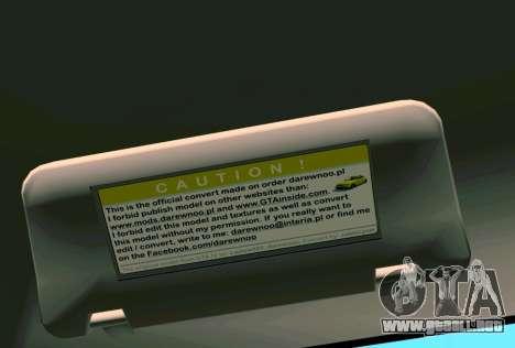 Daewoo Lanos Sport NOSOTROS 2001 para las ruedas de GTA Vice City
