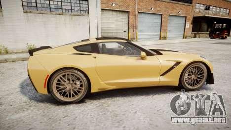 Chevrolet Corvette Z06 2015 TireMi5 para GTA 4 left