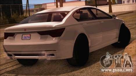 GTA 5 Ubermacht Sport IVF para GTA San Andreas left
