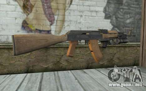 AK-74 Para asegurar a nuestros para GTA San Andreas segunda pantalla
