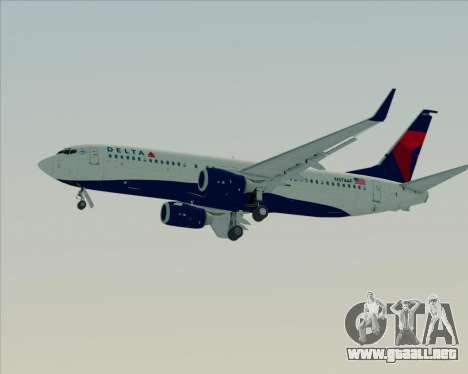 Boeing 737-800 Delta Airlines para las ruedas de GTA San Andreas
