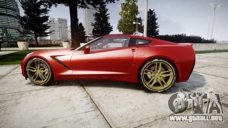 Chevrolet Corvette C7 Stingray 2014 v2.0 TireBFG para GTA 4 left
