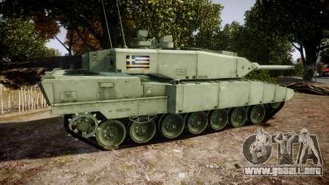 Leopard 2A7 GR Green para GTA 4 left