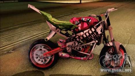 Kawasaki Ninja Zx6R v3 para GTA San Andreas left