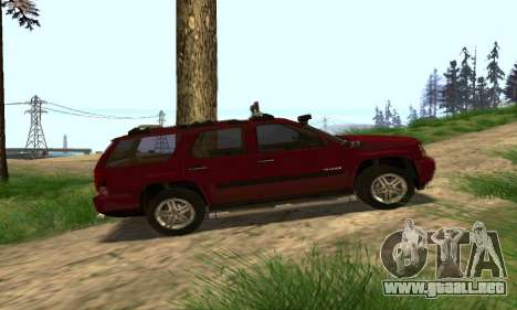 Chevrolet Tahoe Final para la vista superior GTA San Andreas