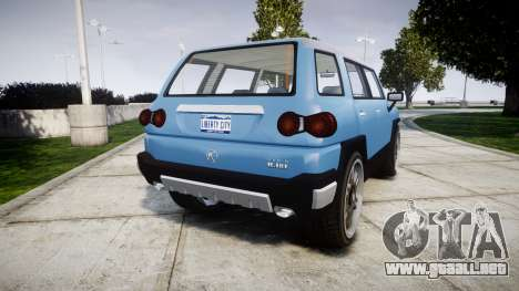 GTA V Karin BeeJay XL para GTA 4 Vista posterior izquierda