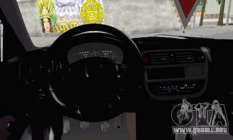 Honda Civic V Type EMR Edition para GTA San Andreas vista posterior izquierda