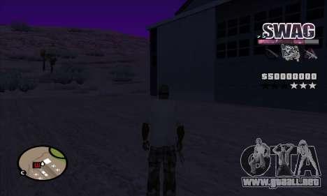 C-HUD Espacio SWAG para GTA San Andreas tercera pantalla