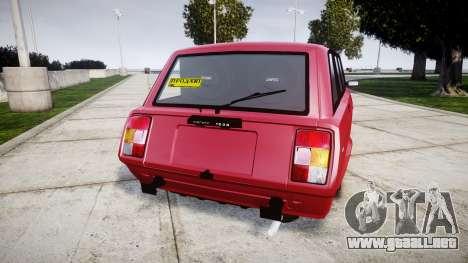 VAZ-2104 para GTA 4 Vista posterior izquierda