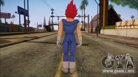 Vegeta Dios Skin para GTA San Andreas segunda pantalla