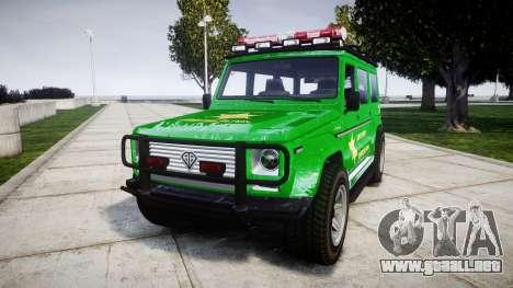 GTA V Benefactor Dubsta [ELS] Sheriff para GTA 4