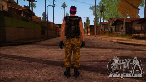 Guerilla from Counter Strike Condition Zero para GTA San Andreas segunda pantalla
