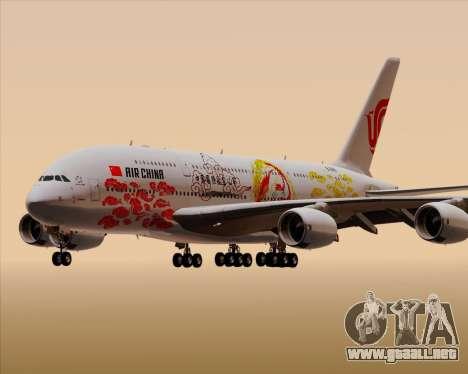 Airbus A380-800 Air China para vista inferior GTA San Andreas